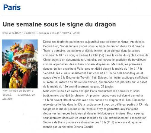 secrets de paris,visites guidées paris,quartier chinois visiter,nouvel an chinois 2012,visiter paris en famille,visites insolites paris,u