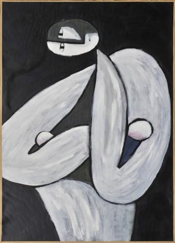 peinture contemporaine paris,thomas dufresne artiste peintre,peinture nu bleu,artiste peintre paris,ateliers artistes paris,